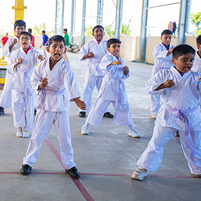 Karate Classes at Shraddha Childrens Academy